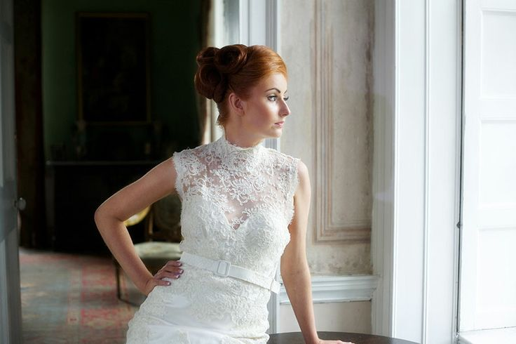 Eleanor - Ivory guipure corded lace turtle neck bodice  http://www.jendoherty.com/Catalog/Dresses/eleanor Donegal Wedding Couture, Dress Designer Donegal