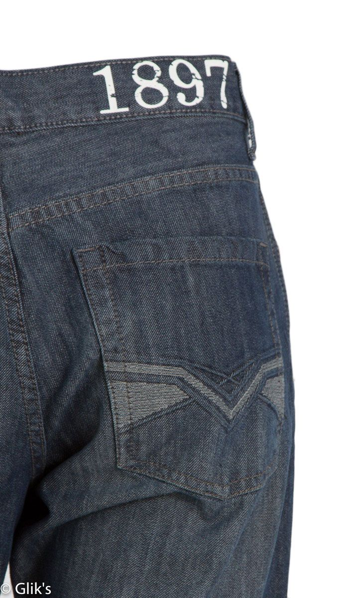 1897 Jeans Mens Dark Silicon Bootcut Denim GL1063