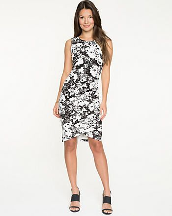 This Floral Ponte Crew Neck Dress seems a good choice for go out.