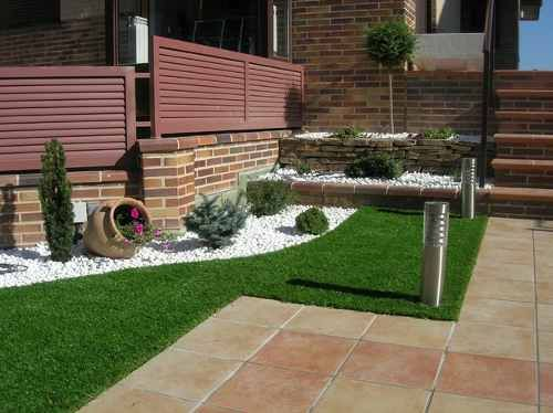 Decorar jardines con ladrillos buscar con google for Ideas decorativas para patios