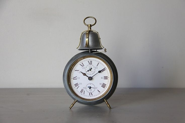 LARGE Antique Alarm Clock Industrial Loft Deco Bell Alarm by maintenant on Etsy https://www.etsy.com/listing/222483733/large-antique-alarm-clock-industrial