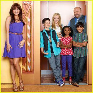 Debby Ryan as Jessie, Peyton List as Emma, Cameron Boyce as Luke, Karan Brar as Ravi on Jessie