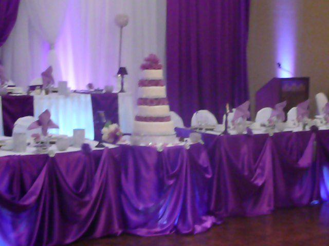 Wedding Head Table Decoration Ideas Purple Head Table