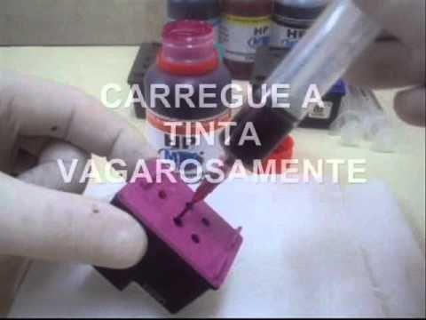 Video Completo Recarga Cartucho HP 121 122 901 675 60 662 74 75 98 92 93 94 95 56 57 21 22 27 28 59 - YouTube
