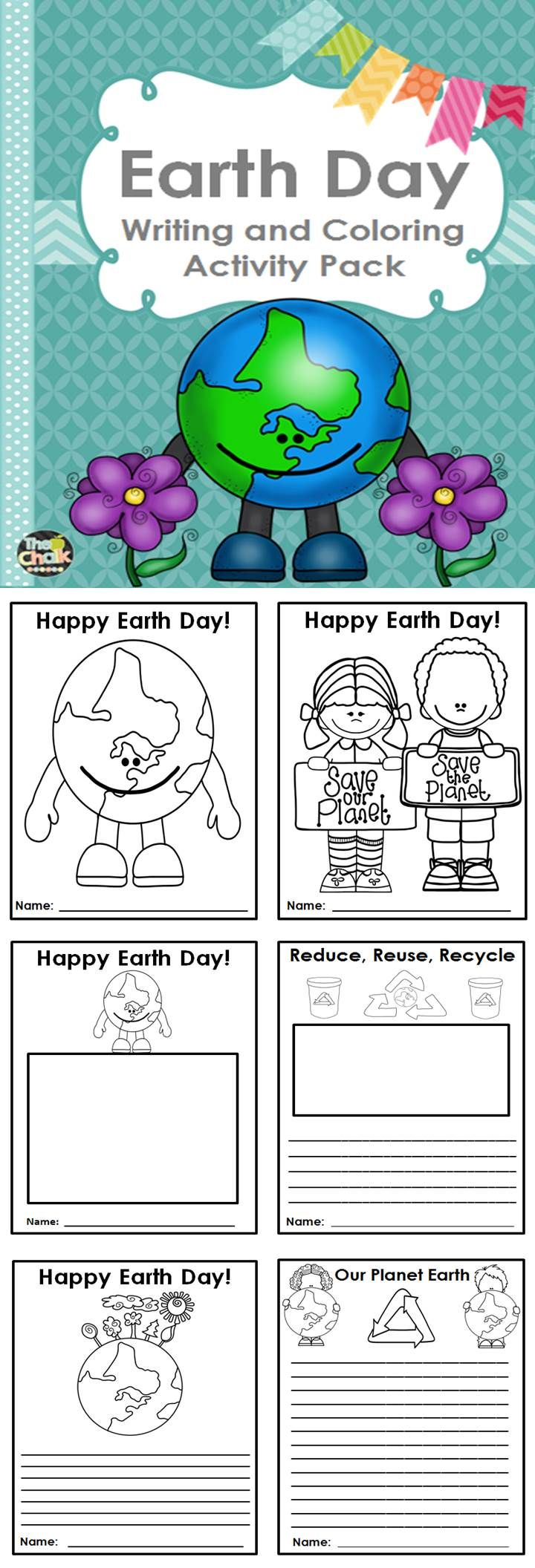 Earth day mandala coloring pages - Celebrate Earth Day With These Adorable Writing Templates And Coloring Pages These Activities Are A