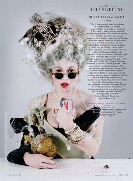 helena bonham carter as...the Queen Mother? Marie Antoinette? Herself?