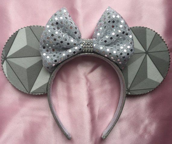 Spaceship Earth Minnie Ears Headband Mickey Ears  epcot ears   **please be aware…