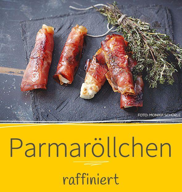 Bei unserem Rezept wird knusprig gebackener Parmaschinken mit leicht schmelzendem Fetakäse gefüllt - wer greift da nicht gerne zu?