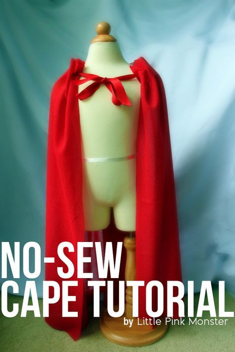 DIY No Sew Cape Tutorial   I could go as Little Red Riding Hood...