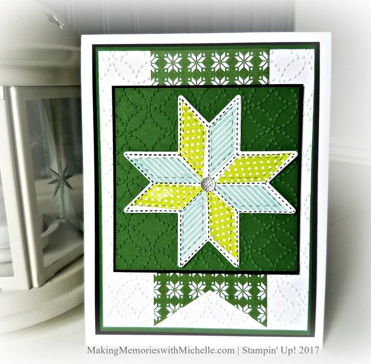 I can see the Christmas Quilt Suite is going to be one of my favorites this year. Christmas Quilt, Quilted Christmas, Quilt Top, Stampin' Up! MakingMemoriesiwithMichelle.com
