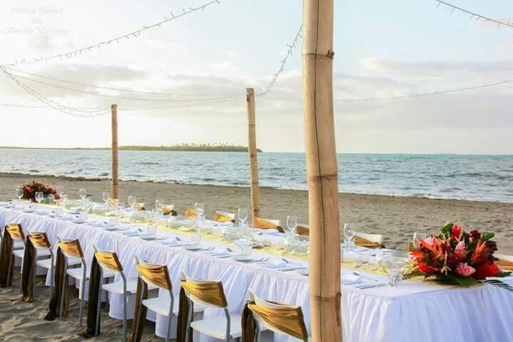 Hilton fiji beach setup for reception