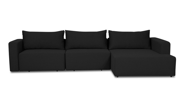 Mandalay II Black Sectional Sleeper Sofa Left Ugggggh exactly what I want but not for 3k