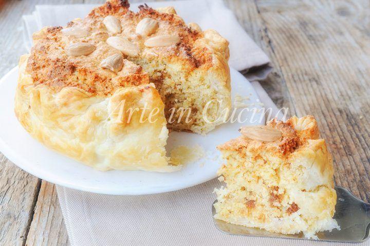 Torta russa di Verona, ricetta dolce facile e veloce, ripiena alle mandorle e amaretti, torta di sfoglia facile da preparare, dolce dopo pranzo, cena, ricetta tipica
