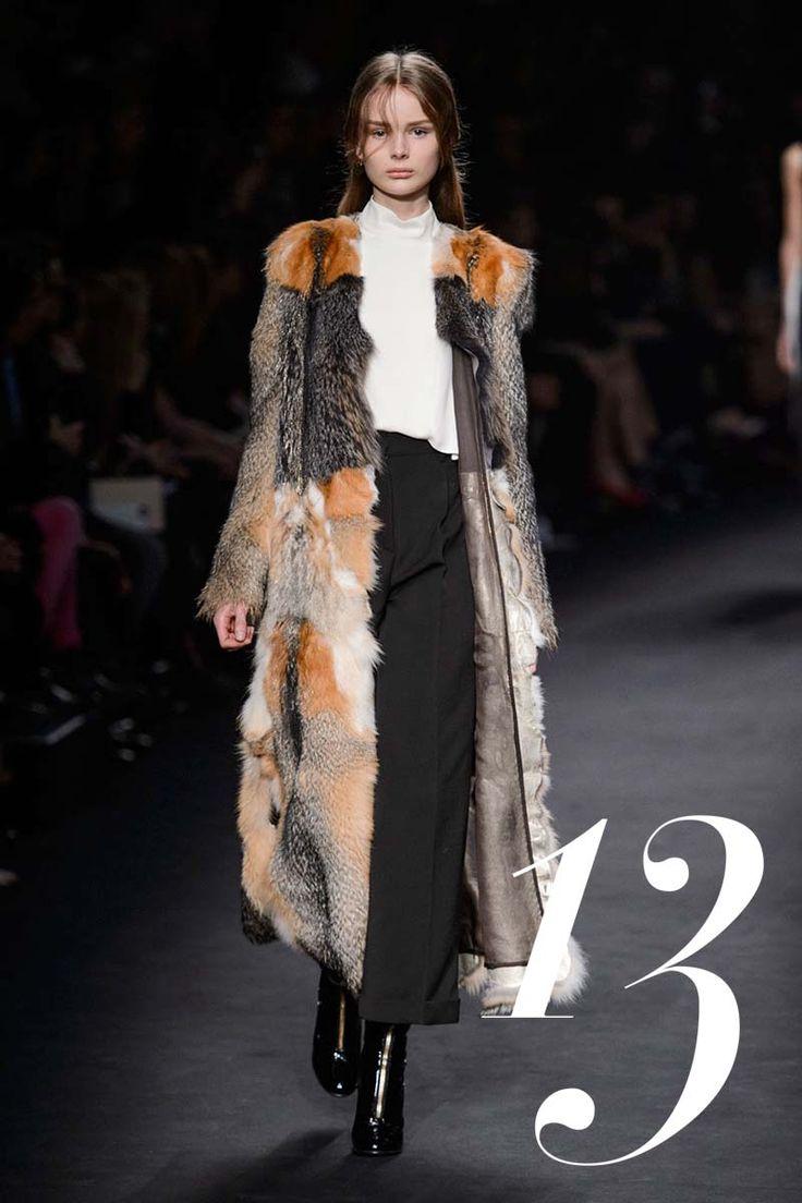Nothing says modern luxury like this divine patchwork fur coat over minimal black-and-white underpinnings.   - HarpersBAZAAR.com