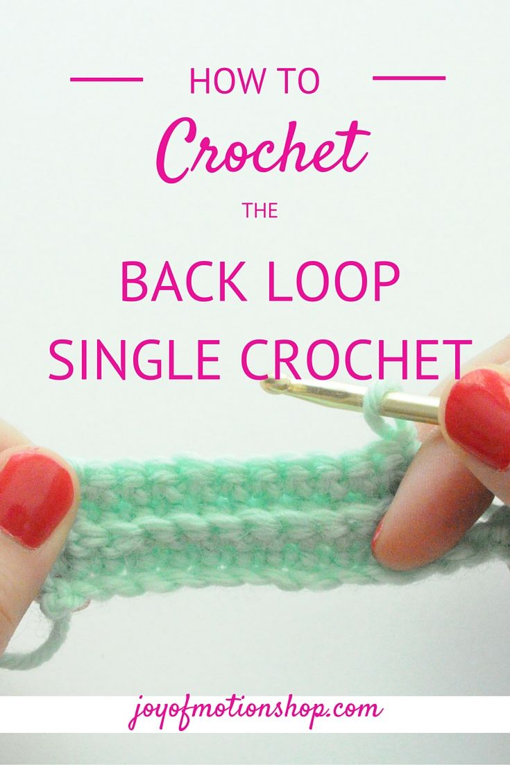 Back Loop Single Crochet picture & video tutorial. Learn this stitch now. It is often used as ripping for crochet project & can be used in various ways. DIY