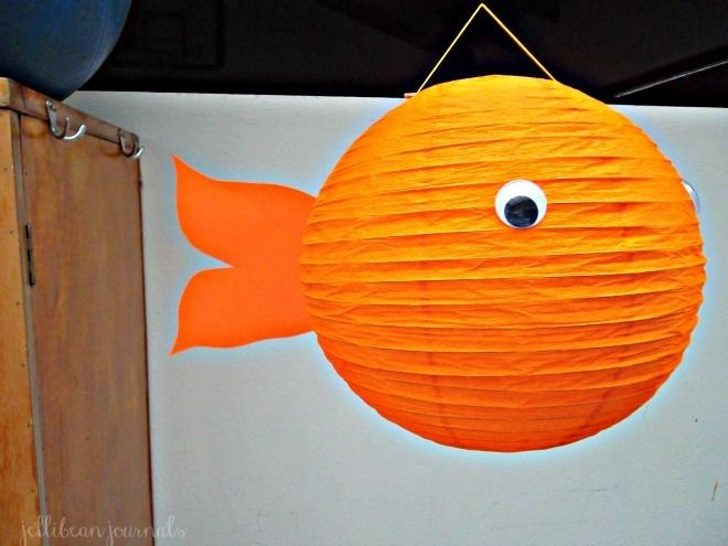 81 best images about art ideas for the kids on pinterest for Fish paper lanterns
