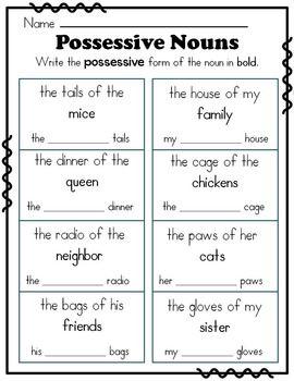 The 25+ best Possessive nouns worksheets ideas on Pinterest ...