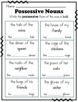 17 best ideas about Possessive Nouns Worksheets on Pinterest ...
