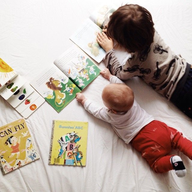 This was my kids.  My son was also reading to his sister!