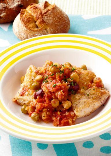 鶏肉とミックスビーンズのチリトマトソース のレシピ・作り方 │ABCクッキングスタジオのレシピ | 料理教室・スクールならABCクッキングスタジオ