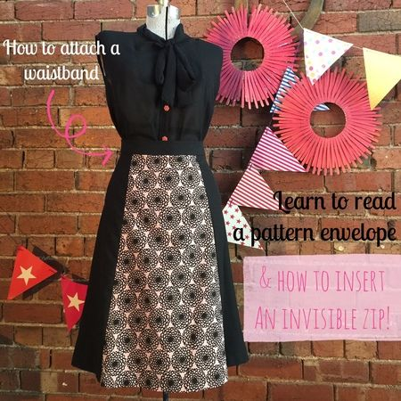 Fashion Classes Sew an A Line Skirt with Princess Seams & Invisible Zip ✄ ✄ by Thread Den