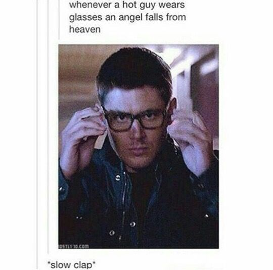 Wow, our wonderful Supernatural fandom swoops right in with the perfect gif, as always
