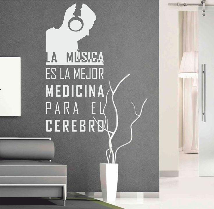 Mejores 69 im genes de vinilos textos decorativos en for Vinilos decorativos sobre musica