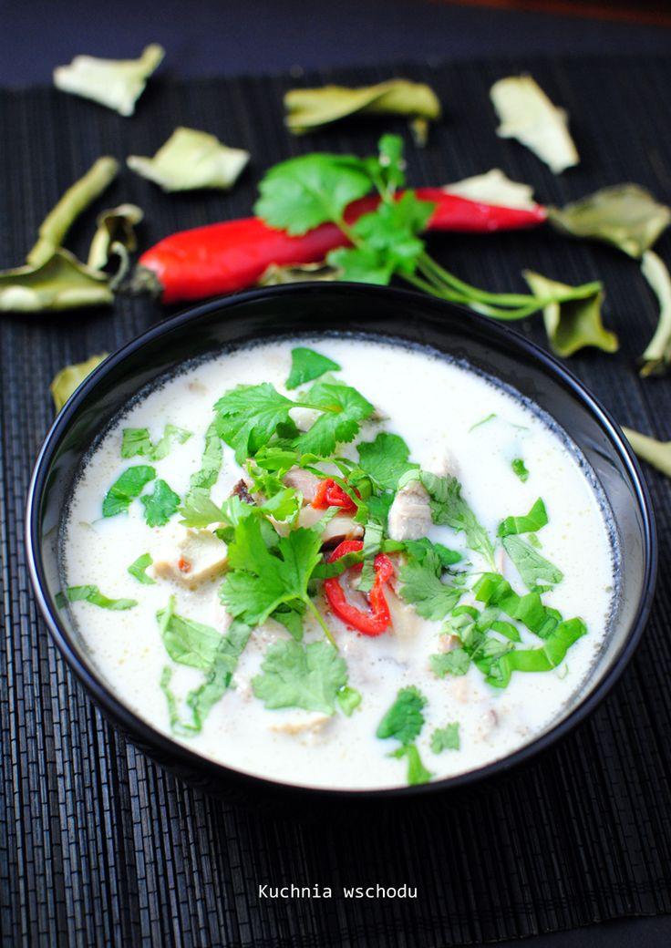 Tom Kha Gai - tajska kokosowa zupa z kurczakiem