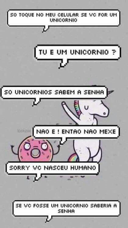 Unicornio para bolqueio de tela