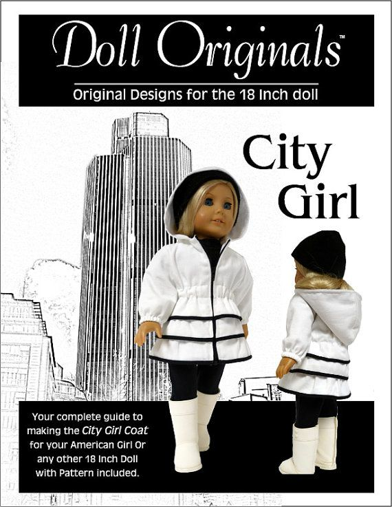 City Girl Coat Pattern for the 18 inch Doll by DollOriginals