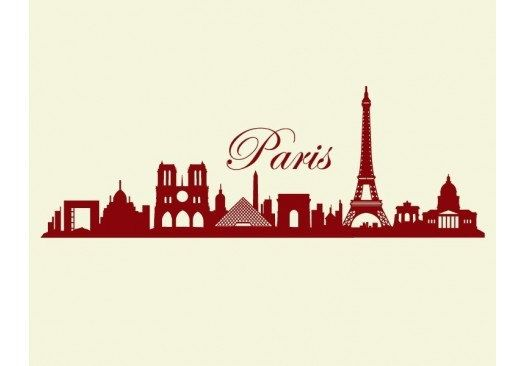 HOT SALE30% SALE Paris Skyline wall decal sticker by StyleandApply
