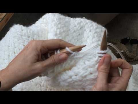Knit a Blanket with Diagonal Basket Weave Stitch • Nourish and Nestle