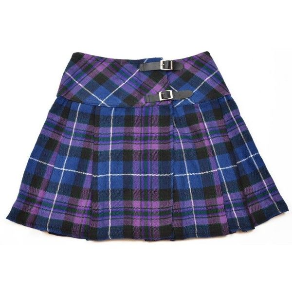 Ladies Purple Pride of Scotland Tartan Mini Billie Kilt Skirt ($32) ❤ liked on Polyvore featuring skirts, mini skirts, plaid mini skirt, tartan plaid skirt, purple tartan skirt, blue plaid skirt and blue skirt