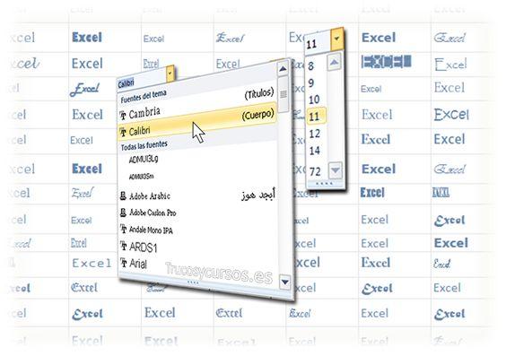 Cambiar la fuente predeterminada en Excel