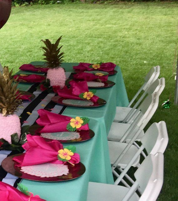 Hibiscus Picks Luau Hawaiian Tropical Food Flower Island Birthday Party Event