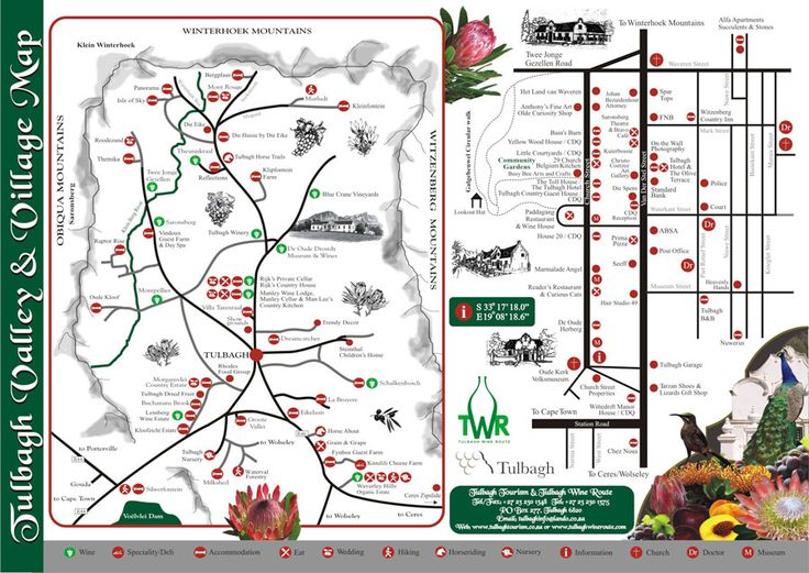 #Tulbagh #Wine Route Map