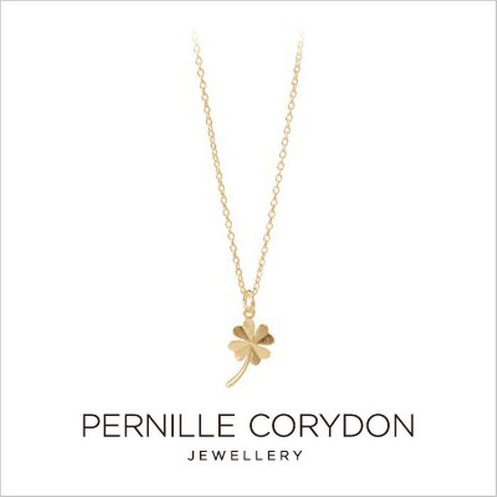 PERNILLECORYDONペニーレコリドン【n-320-gp】CloverNecklace40-48cmAdjustableクローバーネックレス18kgolddippedゴールド