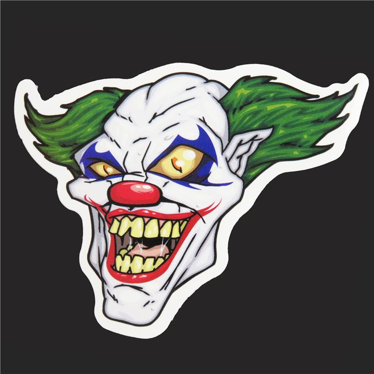 >> Click to Buy << Single  Waterproof Sticker Horror Clown Stickers Cool Graffiti Trolley DIY Decals A-12 #Affiliate