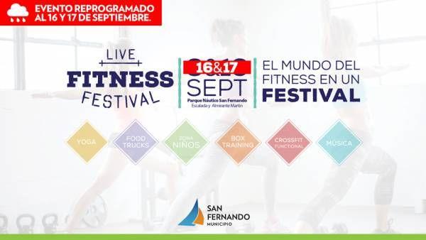 El 'Live Fitness Festival' en San Fernando se reprogramó para el 16 y 17 de septiembre