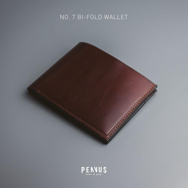 PENVUS - No.7 Bi-fold wallet (Type B, Dark Brown) #leather #leathercraft #penvus #penvusleathergoods #wallet #handmade #handcraft #madeinvietnam #vietnam