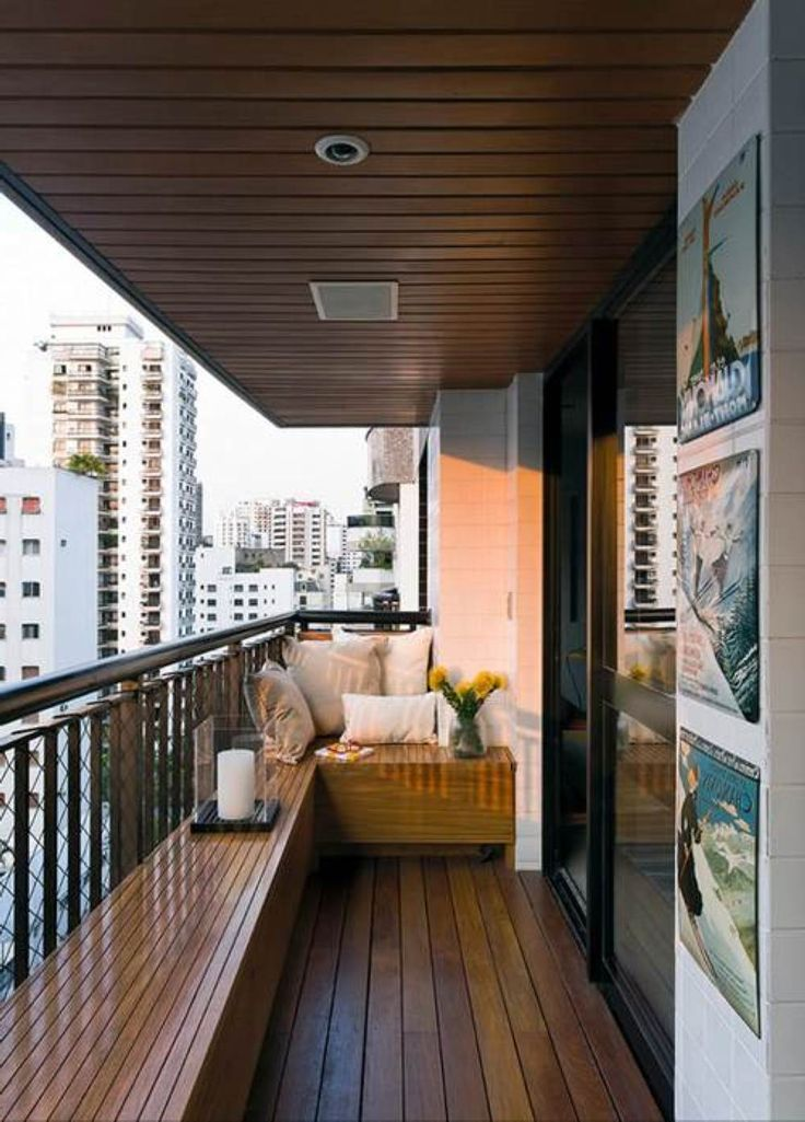 cool idea to decorating a small balcony