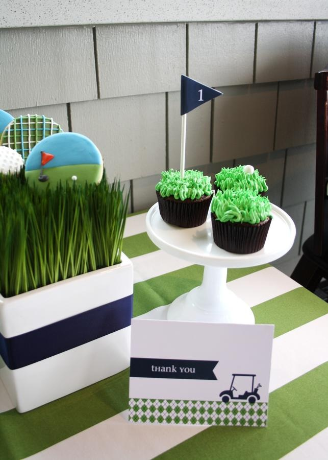 Golf Themed Party Decorating Ideas Part - 46: Golf Cupcakes? Yes Please. // Pipeline Marketing · Golf Party  DecorationsGolf CenterpiecesGolf CupcakesThemed ...
