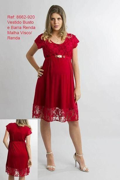 lindos vestidos para gravidas de renda