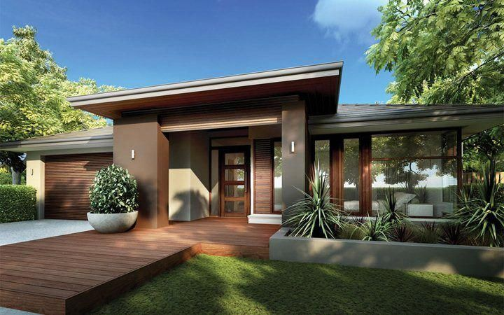 Monaco New Home Designs Metricon I Love All Timber Aspects Of This House The Corner Window Deck Leading Facade House House Exterior House Designs Exterior
