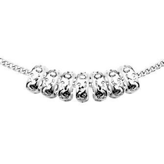 Seven Rings of Luck with Sterling Silver Chain - BEE-33847