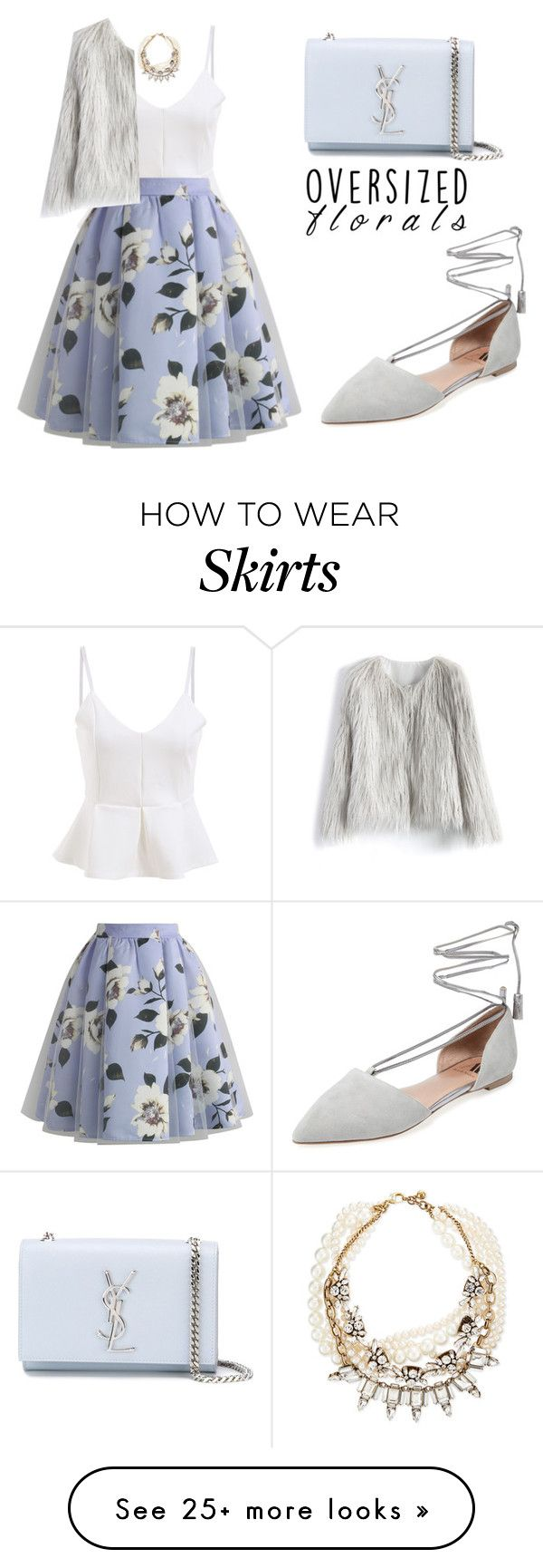 """""""Oversized Florals"""" by tania-alves on Polyvore featuring Chicwish, Ava & Aiden, Yves Saint Laurent, Lulu Frost and oversizedflorals"""
