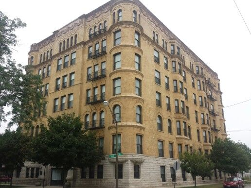 The Yale Apartments 1880's architecture in Englewood, Chicago, Illinois