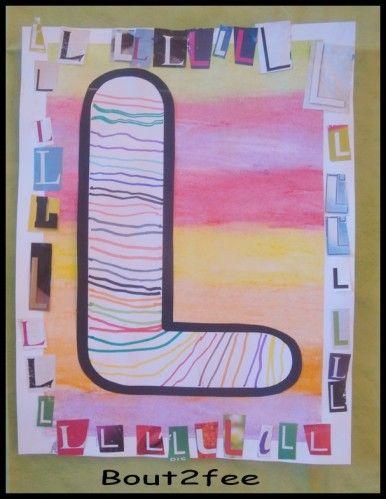 """Avec les moyens, nous avons un travail sur la reconnaissance de son initiale . Mes élèves ont décoré leur initiale avec des traits aux feutres. Vous trouverez ces lettres sur le site de """"Moustache"""" : MOUSTACHE lettre A Ils ont ensuite réalisé un fond..."""