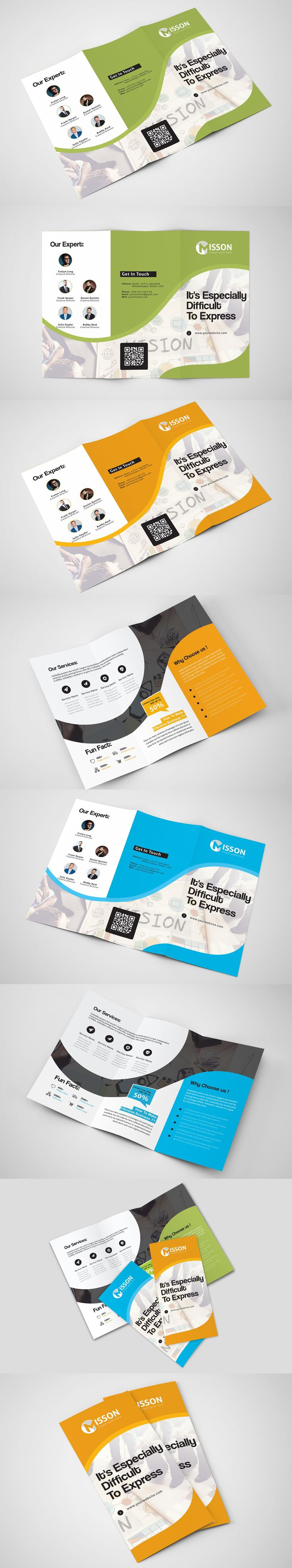 Trifold Brochure Template AI, EPS