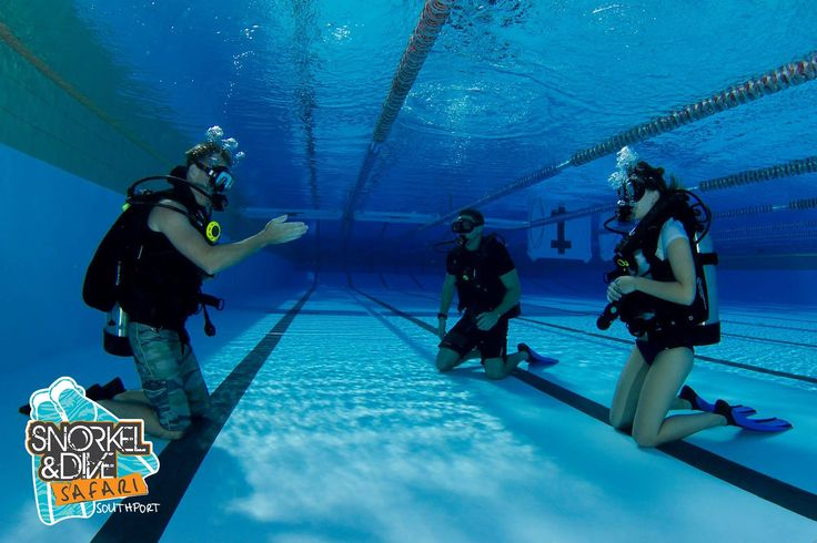 The best way to develop confidence to dive in the ocean is to start in the pool. This is a dive lesson instructed by Dave Wyatt from Snorkel and Dive Safari Southport #learntodive #goldcoast #goldcoastdiving #divingaustralia